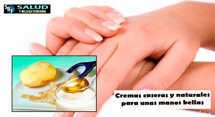 Cremas caseras y naturales para unas manos bellas