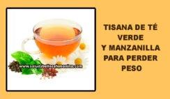 Tisana de té verde y manzanilla para perder peso