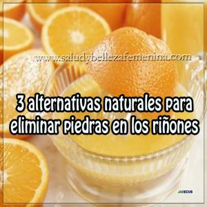 3 alternativas naturales para eliminar piedras en los riñones
