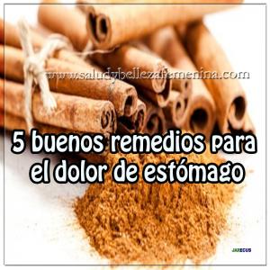 5 buenos remedios para el dolor de estómago