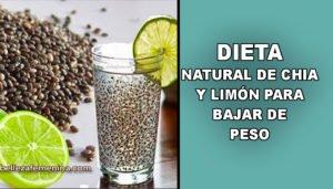 Dieta natural de Chía y limón para bajar de peso