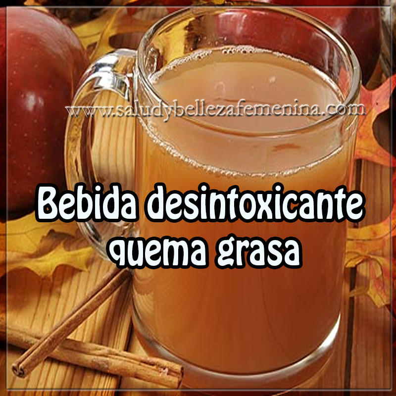 Bebidas para adelgazar, bebidas fáciles, bebidas sanas,  manzana, canela