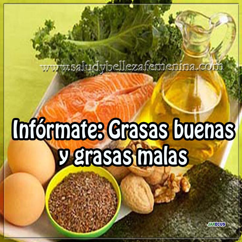 Dietas y nutrición , salud, grasas buenas, grasas, malas, nfórmate : Grasas buenas y grasas malas