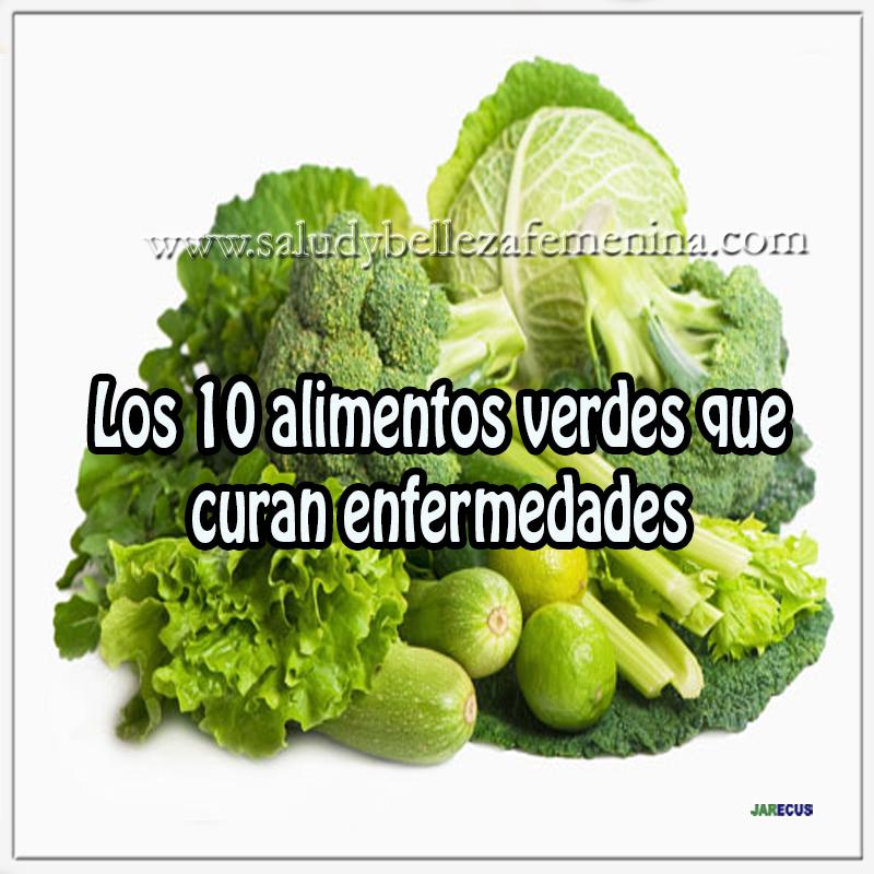 Salud y nutrición ,  espinaca, brócoli,apio,10 alimentos verdes que curan enfermedades