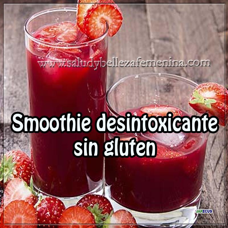 Bebidas para adelgazar,  receta smoothie desintoxicante, recetas fáciles
