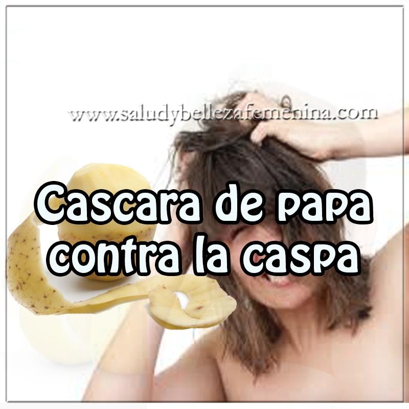 Remedios y tratamientos , remedios caseros de  cascara de papa contra la caspa, cuidados del cabello