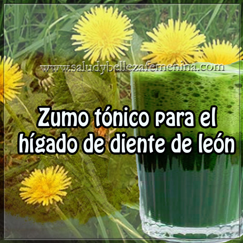 Bebidas saludables , salud y bienestar en cuerpo y mente, receta de zumo tónico para higado