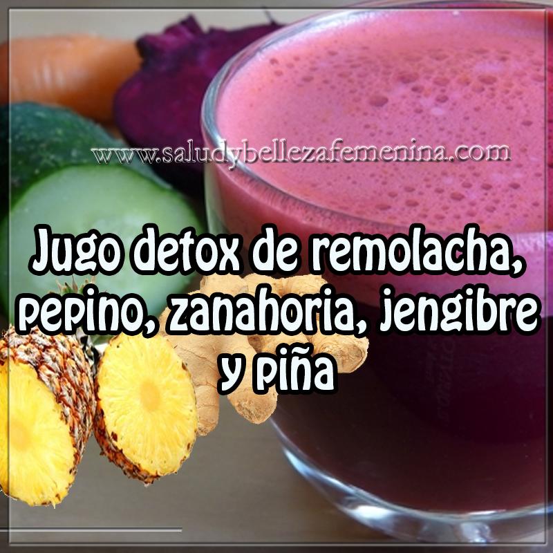 Bebidas para adelgazar,  recetas de jugo para perder peso , receta  para adelgazar , receta jugo detox, remolacha , pepino , zanahoria jengibre , piña