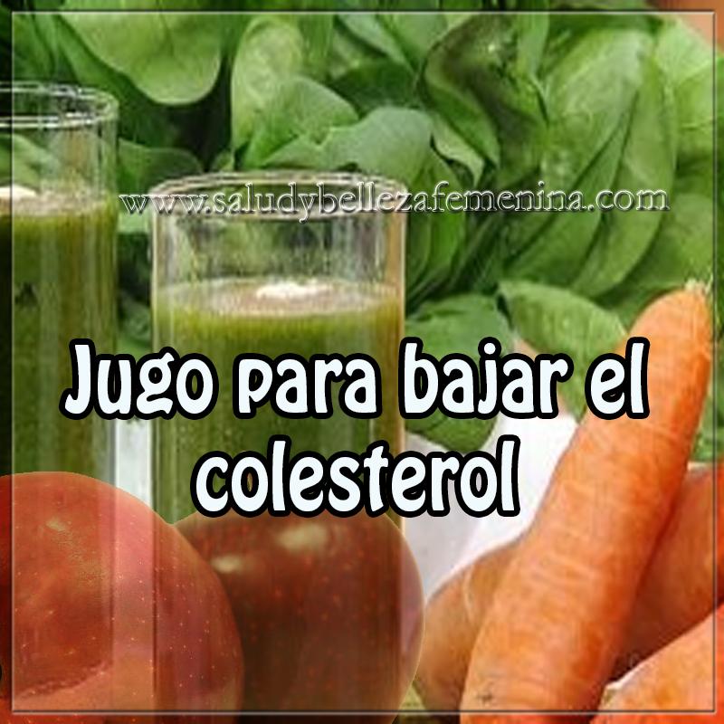 Bebidas para adelgazar,  receta jugo para bajar el colesterol, receta  para bajar peso