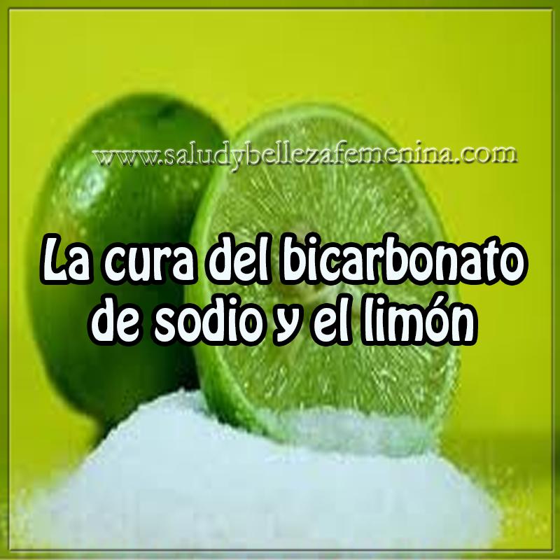Salud y bienestar en cuerpo y mente, cura del bicarbonato de sodio y limón