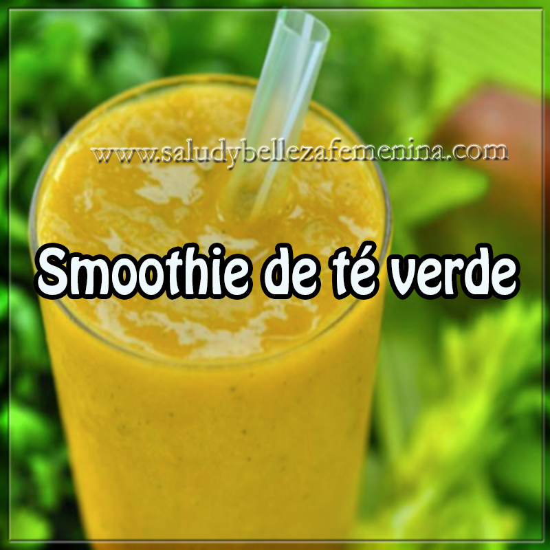 Bebidas saludables,  receta de smoothie de té verde  , recetas sanas