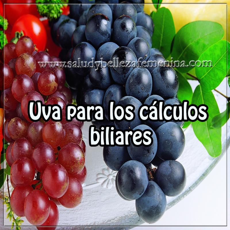 Salud y bienestar,  receta con remedios naturales , cálculos biliares , uva