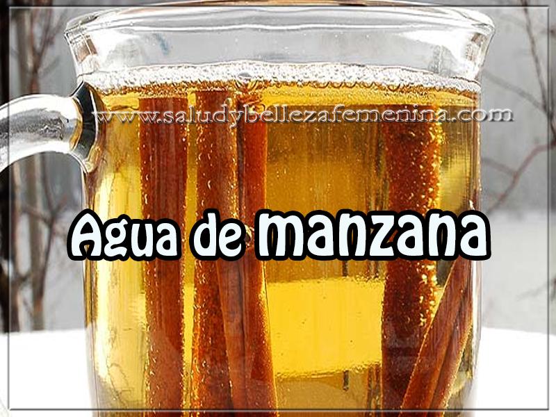 Bebidas saludables , agua de manzana