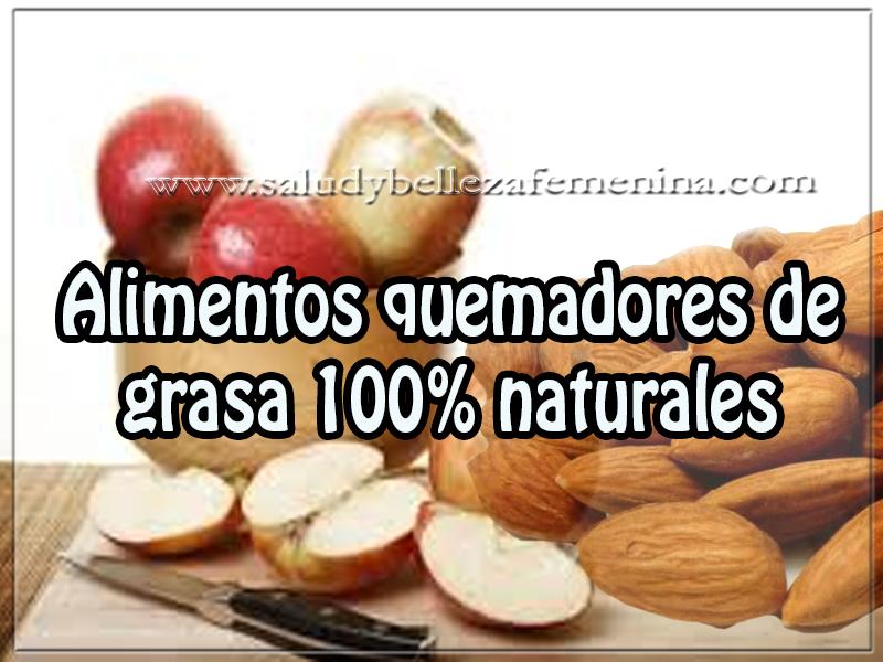 Salud y bienestar , alimentos quemadores de grasa 100% naturales