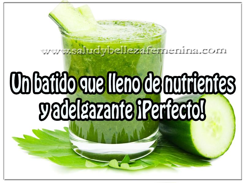 Bebidas para adelgazar , un batido que lleno de nutrientes y adelgazante ¡Perfecto!