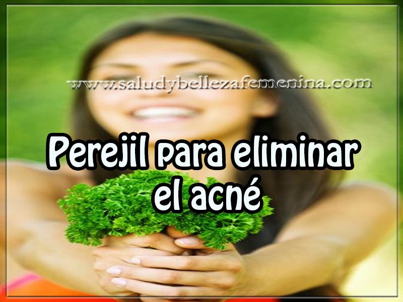 Cuidados del rostro , belleza, tips , perejil para eliminar  el acné