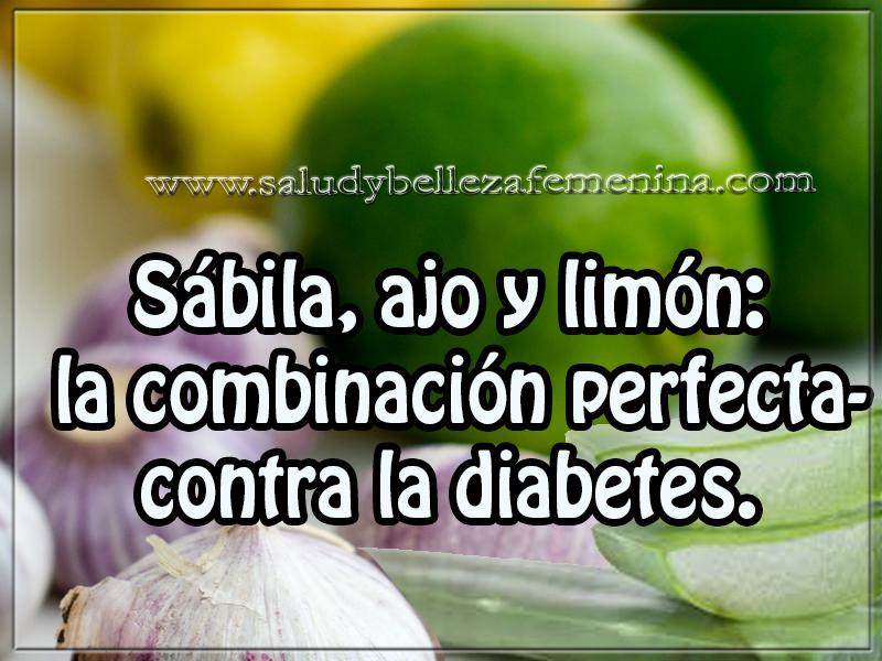 Salud y bienestar ,  remedios naturales , sábila, ajo y limón:  la combinación perfecta contra la diabetes.