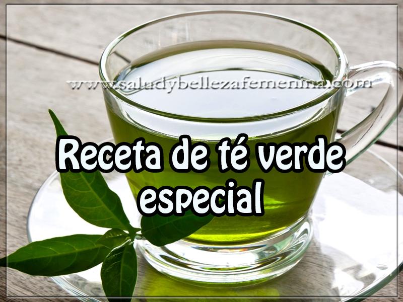 Bebidas para adelgazar , receta de té verde  especial , bajar peso , adelgazar