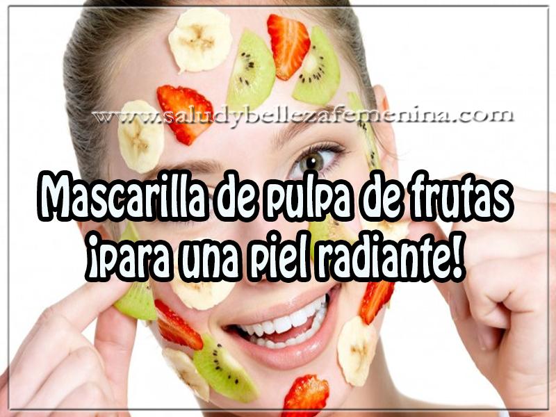 Mascaras faciales , belleza ,mascarilla de pulpa de frutas  ¡para una piel radiante!