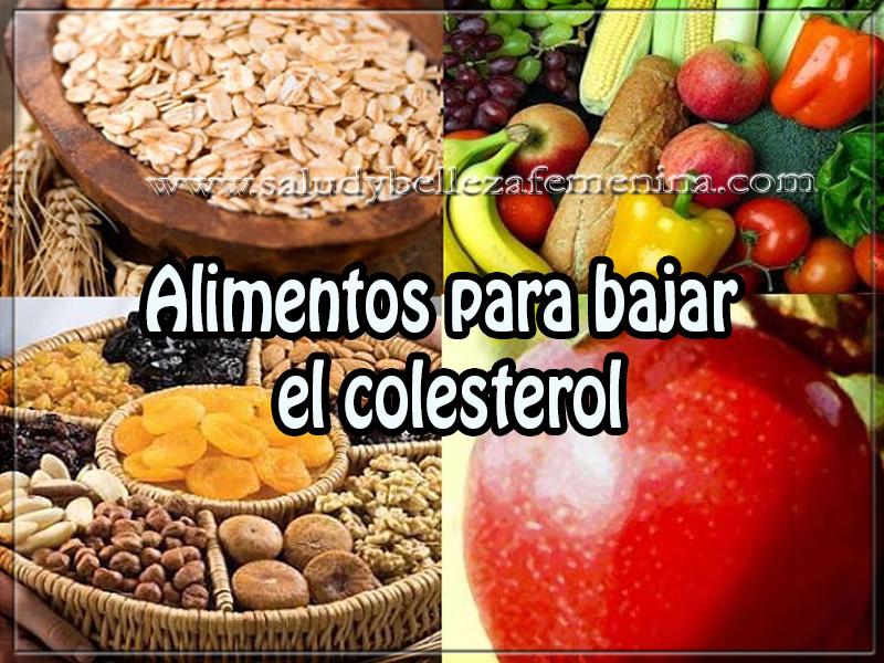 Alimentos para bajar el colesterol salud y belleza - Alimentos a evitar con colesterol alto ...