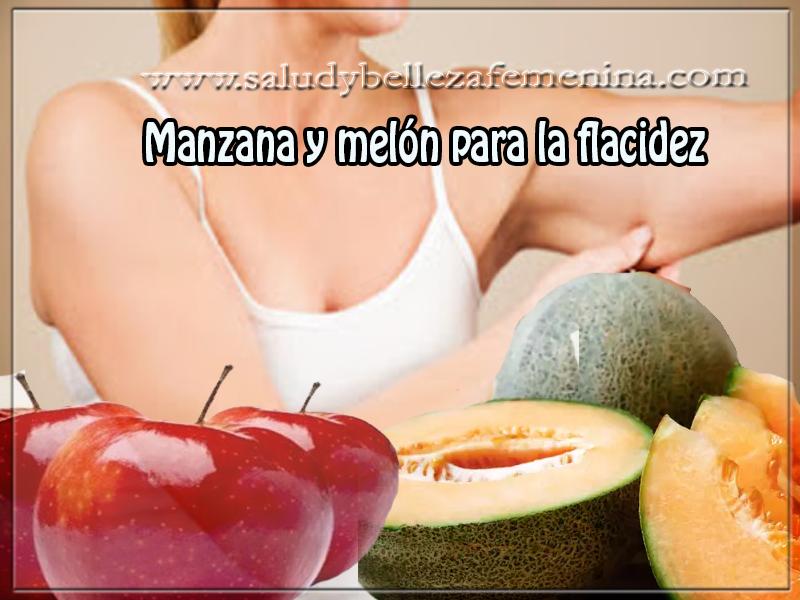 Cuidados del cuerpo , belleza, Manzana y melón para la flacidez