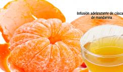 Infusión adelgazante de cáscara de mandarina