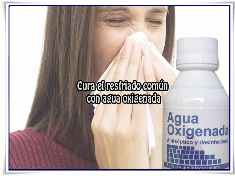 Salud y bienestar, resfriado, agua oxigenada