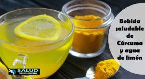 Bebida saludable de Cúrcuma y agua de limón