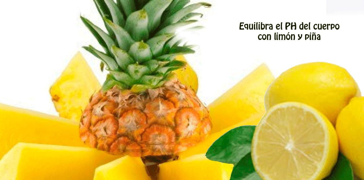 Equilibra el PH del cuerpo con limón y piña - Salud y belleza