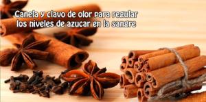 Canela y clavo de olor para regular los niveles de azúcar en la sangre