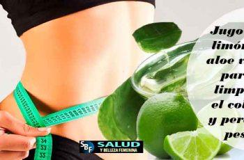 Jugo de limón y aloe vera para limpiar el colòn y perder peso