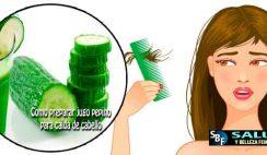 Como preparar jugo pepino para caìda de cabello