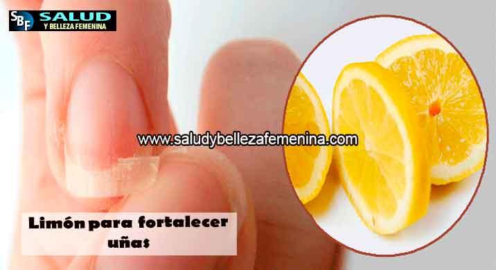 Limón para fortalecer uñas