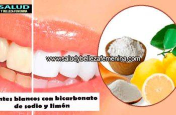 Dientes blancos con bicarbonato de sodio y limón