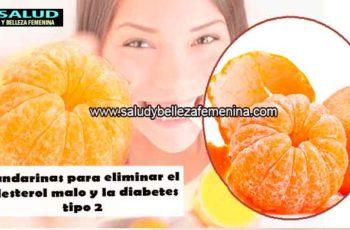 Mandarinas para eliminar el colesterol malo y la diabetes tipo 2