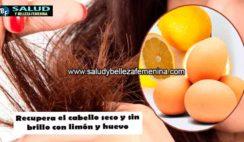 Recupera el cabello seco y sin brillo con limón y huevo