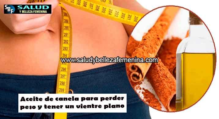 Aceite de canela para perder peso y tener un vientre plano
