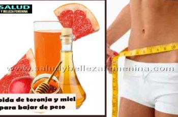 Bebida de toronja y miel para bajar de peso
