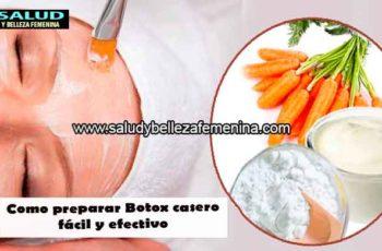 Como preparar Botox casero fácil y efectivo