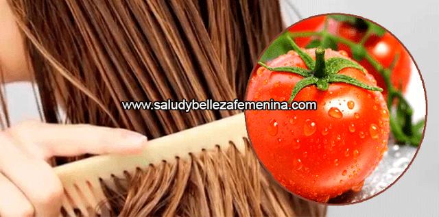 Remedio natural de tomate para el cabello graso, el  tomate, ayudará a tu cabello a devolverle el brillo perdido, luciendo suave y sedoso, proporciona nutrientes y vitaminas para el cabello