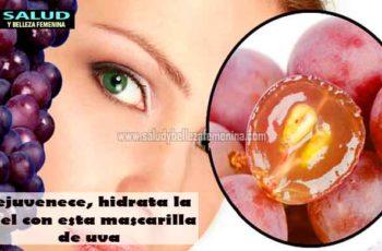 Rejuvenece, hidrata la piel con esta mascarilla de uva