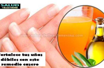 Fortalece tus uñas débiles con este remedio casero