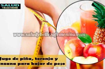 Jugo de piña, toronja y manzana para bajar de peso