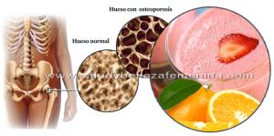 Jugo natural para combatir la osteoporosis
