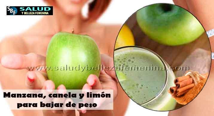 Manzana, canela y limón para bajar de peso