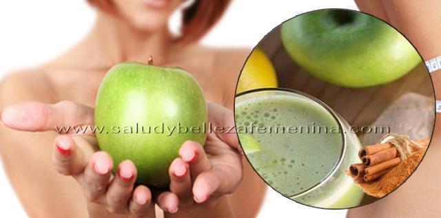 Manzana, canela y limón para bajar de peso, el limón, la manzana verde y la canela te protegen del daño oxidativo causado por los radicales libres. Asimismo, la canela y el limón son antiinflamatorios y brindan adecuadas vitaminas y minerales que favorecerán a la salud, activa nuestro metabolismo, lo que ayuda a perder peso.