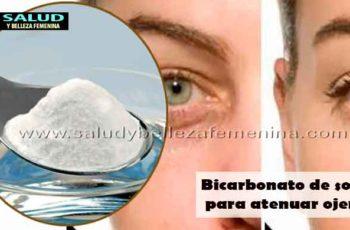 Bicarbonato de sodio para atenuar ojeras