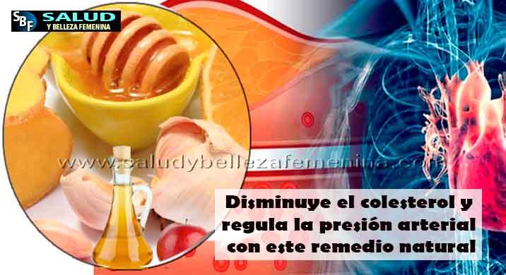 Disminuye el colesterol y regula la presión arterial con este remedio natural