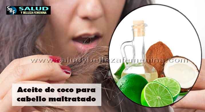 Aceite de coco para cabello maltratado