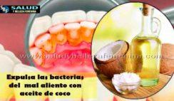 Expulsa las bacterias del mal aliento con aceite de coco